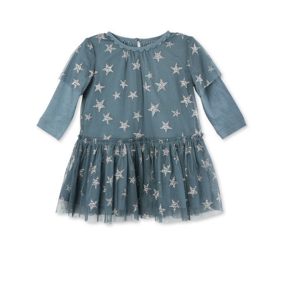 Mouse Blue Star Print Dress