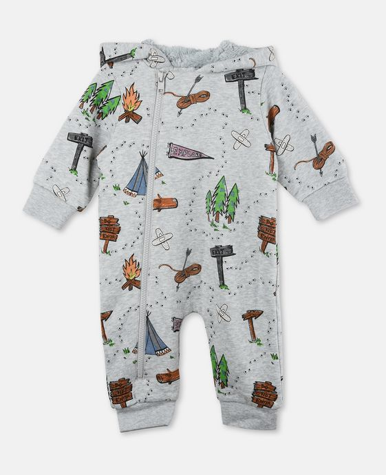 Bagpipes Gray Explorer Babygrow