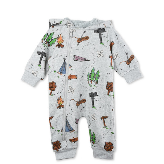 Bagpipes Grey Explorer Babygrow