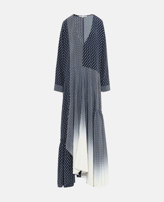 STELLA McCARTNEY Dominique Tie Print Dress Maxi D c