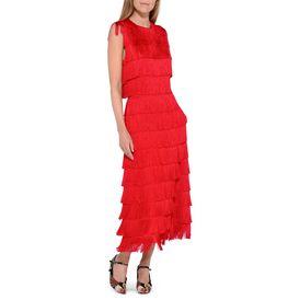 Emma Red Fringe Dress