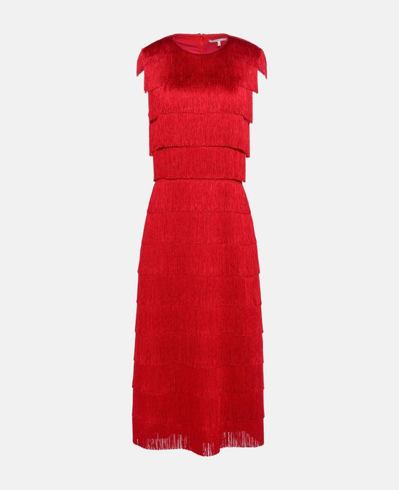 Emma Red Fringe Dress