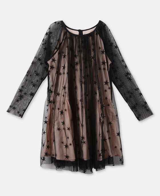 Misty Black Star Dress