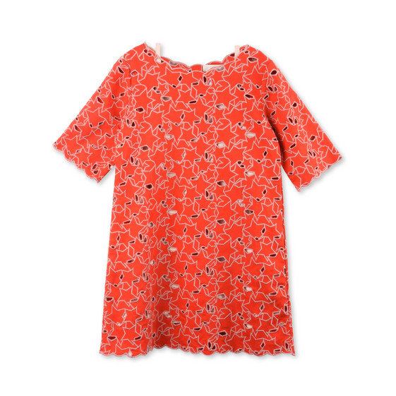 Ettie Red Embroidered Star Dress