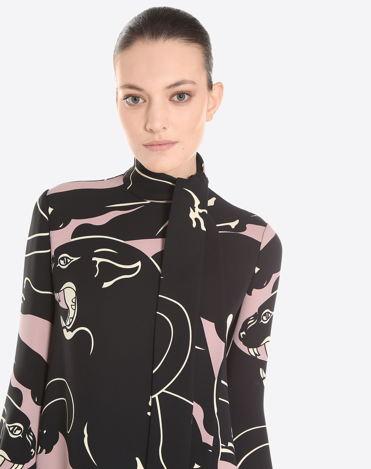 VALENTINO Multicolour Pattern Bow collar Hook-and-bar, zip Crêpe Single button cuffs Unlined Long sleeves  34751817gl