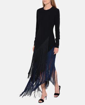 Camille Black Fringe Dress