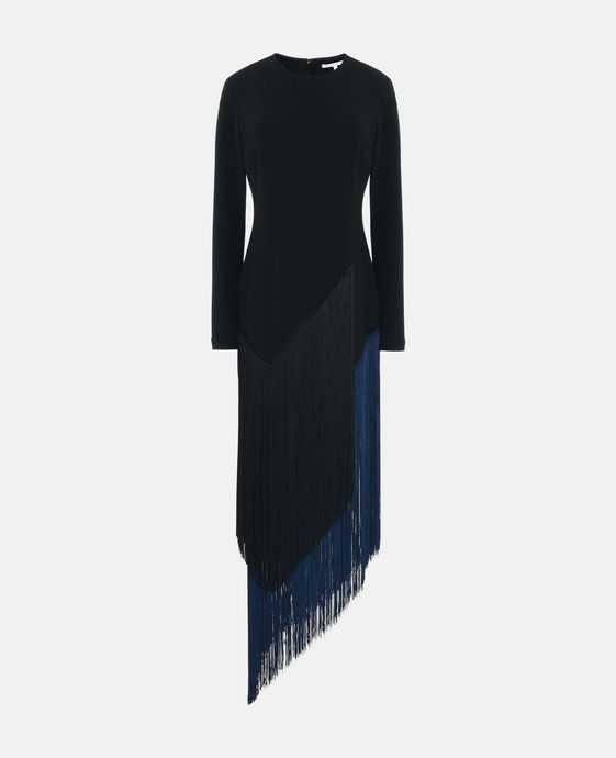 Camille Black Fringe Dress