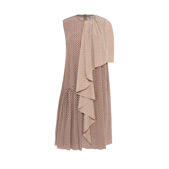 Emmanuelle Tie Print Silk Dress