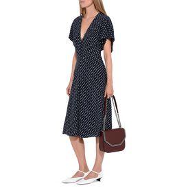 Andrea Tie Print Ink Dress