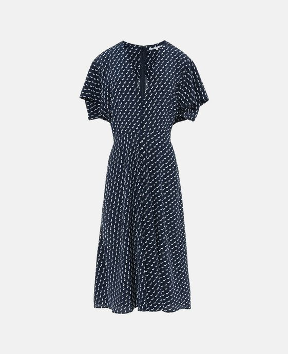 Andrea Tie Print Ink Dress