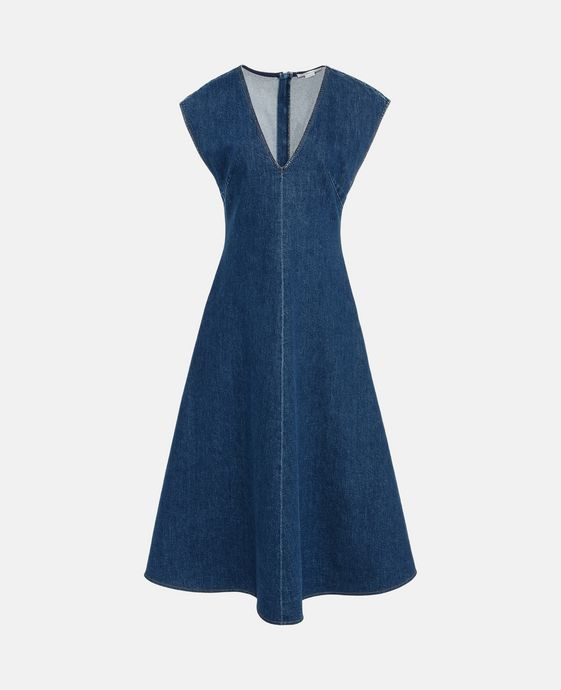 Ella Organic Cotton Denim Dress