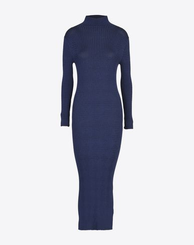 MAISON MARGIELA 3/4 length dress D Rib knit turtleneck dress f