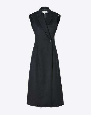 MAISON MARGIELA 7分丈ワンピース・ドレス D ノースリーブ ウール コート ドレス f