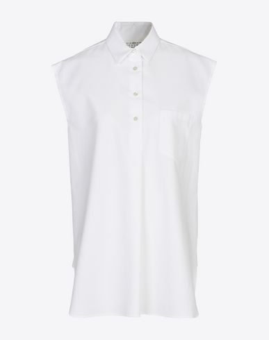 MAISON MARGIELA 4 Sleeveless shirt D Sleeveless cotton piqué shirt f