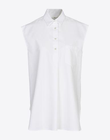 MAISON MARGIELA 4 ノースリーブシャツ D ノースリーブ コットンピケ シャツ f