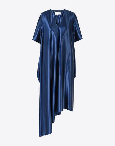 MAISON MARGIELA ロングワンピース・ドレス D アシンメトリック サテン ミディ ドレス f