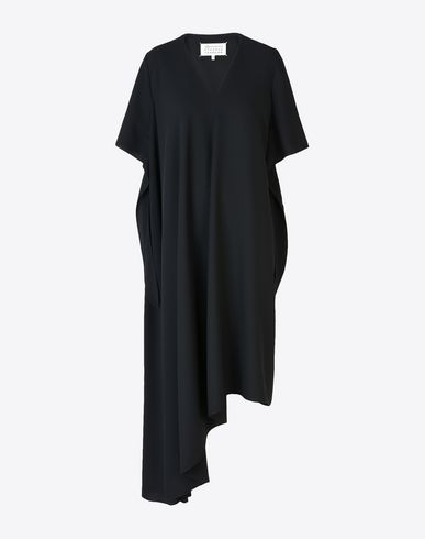 MAISON MARGIELA 1 Long dress D Asymmetric crepe midi dress f