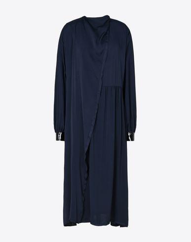 MAISON MARGIELA ロングワンピース・ドレス D ドレープ クレープサテン ミディ ドレス f