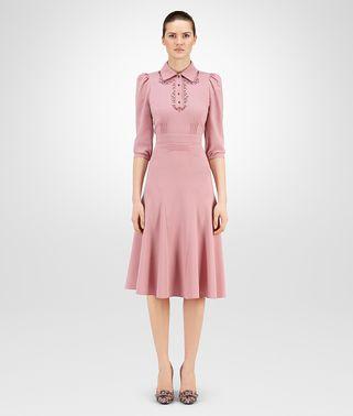 闺蜜粉羊毛连衣裙,铆钉细节