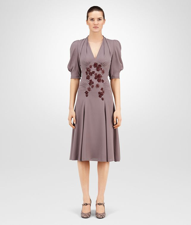 BOTTEGA VENETA DRESS IN GLICINE SILK GEORGETTE , EMBROIDERED Dress Woman fp