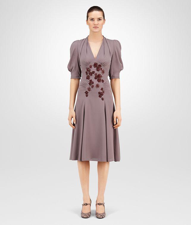 BOTTEGA VENETA DRESS IN GLICINE SILK GEORGETTE, EMBROIDERED Dress Woman fp