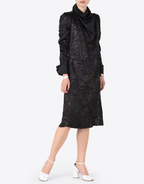 MAISON MARGIELA ドレープ ライニング ドレス 7分丈ワンピース・ドレス D d
