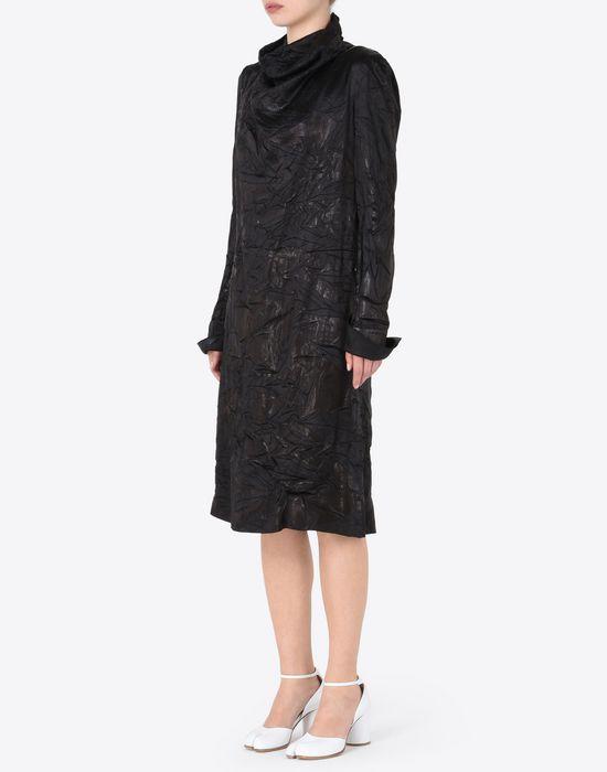 MAISON MARGIELA ドレープ ライニング ドレス 7分丈ワンピース・ドレス D r