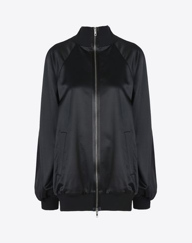 MAISON MARGIELA 1 Light jacket D Wool satin bomber jacket f