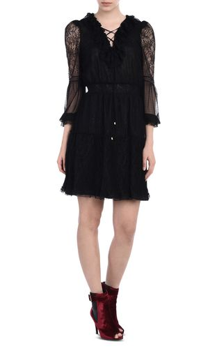 JUST CAVALLI Short dress D Dress with laced neckline f