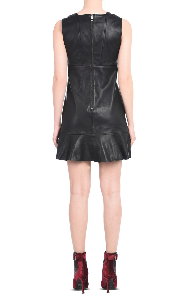 JUST CAVALLI Leather dress with criss-cross laces. Short dress      3a02aff2f