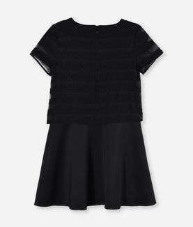 KARL LAGERFELD FANCY SHEER OVERLAY DRESS
