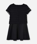 KARL LAGERFELD FANCY SHEER OVERLAY DRESS 8_r
