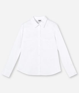 KARL LAGERFELD CONTRAST POCKET & COLLAR SHIRT