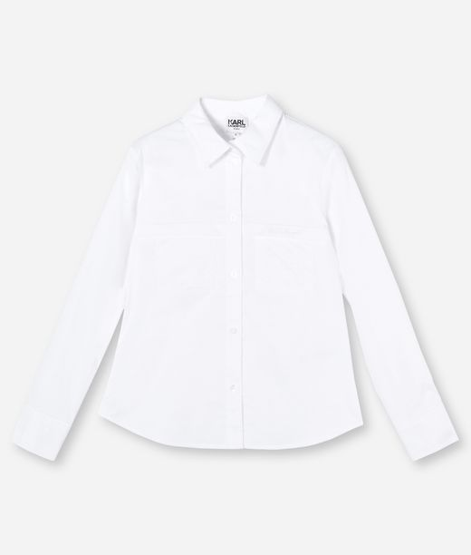 KARL LAGERFELD CONTRAST POCKET & COLLAR SHIRT 12_f