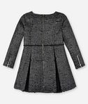 KARL LAGERFELD KARL SIGNATURE WAISTBAND BOUCLÉ DRESS 8_r