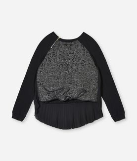 KARL LAGERFELD BOUCLÉ FRONT KARL EDGING SHIRT