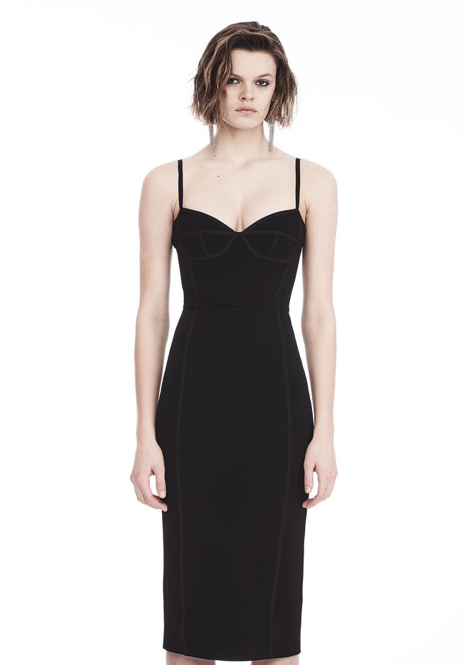 T by ALEXANDER WANG 3/4 Length dresses SLEEVELESS FITTED MIDI DRESS