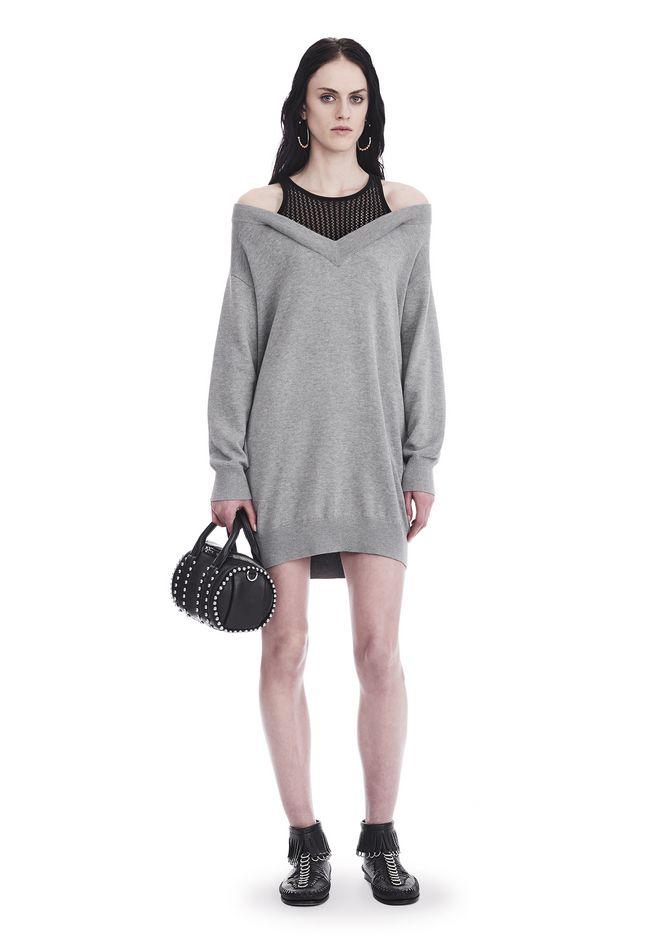T by ALEXANDER WANG knitwear-t-by-alexander-wang-woman KNIT DRESS WITH INNER MESH TANK