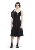 T by ALEXANDER WANG COTTON POPLIN V-NECK DRESS WITH FRONT KEYHOLE 3/4 length dress Adult 8_n_f