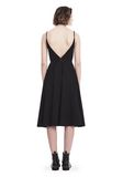 T by ALEXANDER WANG COTTON POPLIN V-NECK DRESS WITH FRONT KEYHOLE 3/4 length dress Adult 8_n_r