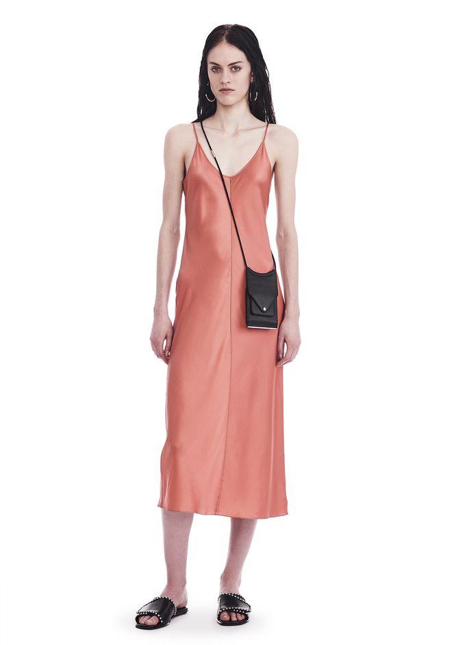 T by ALEXANDER WANG 3/4 Length dresses Women SILK CHARMEUSE SLIP DRESS