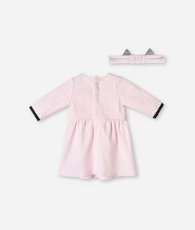 KARL LAGERFELD QUILTED DRESS & HEADBAND SET