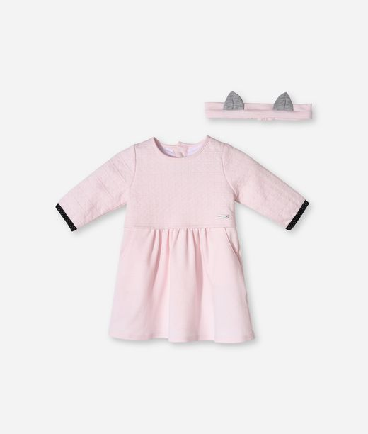 KARL LAGERFELD QUILTED DRESS & HEADBAND SET  12_f