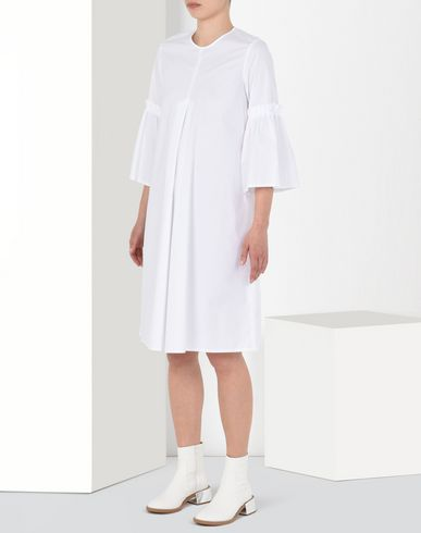 MM6 MAISON MARGIELA Short dress D Poplin dress with pleated sleeves f