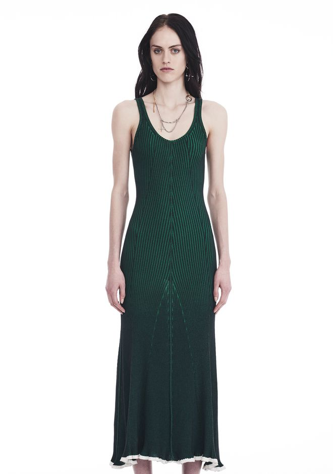 T by ALEXANDER WANG 3/4 Length dresses SLEEVELESS RIBBED MAXI DRESS
