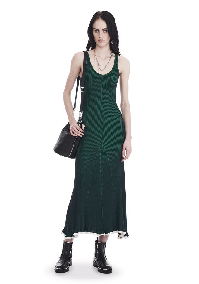 T by ALEXANDER WANG 3/4 Length dresses Women SLEEVELESS RIBBED MAXI DRESS
