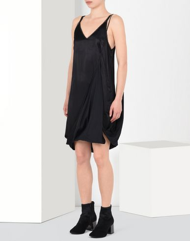 MM6 MAISON MARGIELA Short dress D Asymmetric satin slip dress f