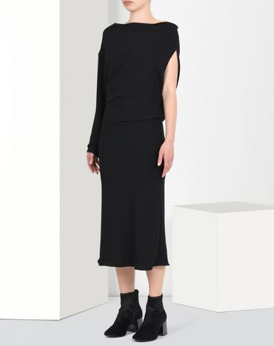 MM6 by MAISON MARGIELA Draped asymmetric dress Long dress D f