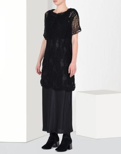 MM6 MAISON MARGIELA Layered mesh dress 3/4 length dress D f