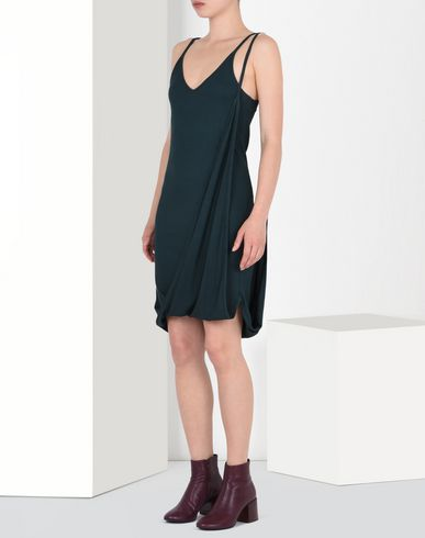 MM6 by MAISON MARGIELA Asymmetric rib knit slip dress Short dress D f